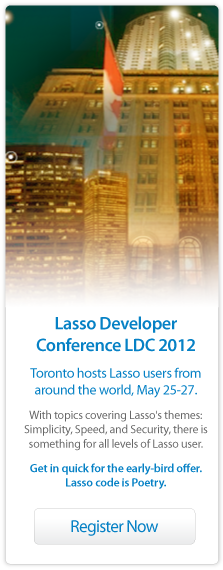 Lasso Developer Conference Toronto 2012
